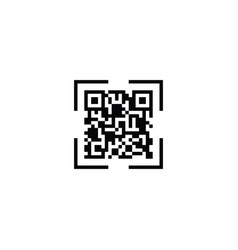 qr code scan icon vector image