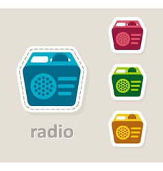 radio receiver icon vector image