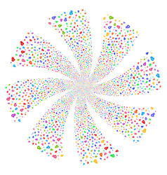Rouble fireworks swirl rotation vector