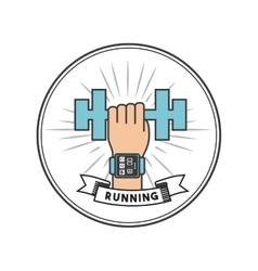 Running and sport design vector