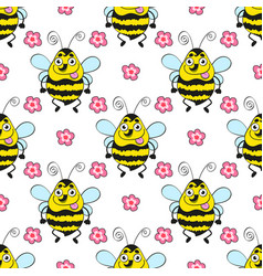 seamless pattern bee vector image