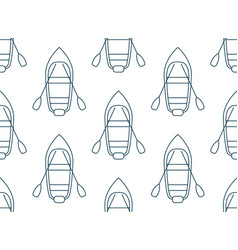 seamless pattern made of cartoon boats top view vector image