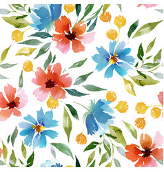 seamless watercolor pattern vector image