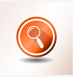 Search engine button in flat design vector