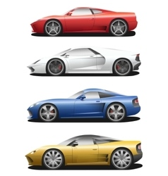 Set of sport cars vector