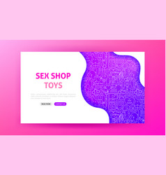 Sex shop landing page vector
