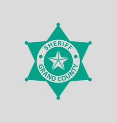 Sheriff badge icon vector