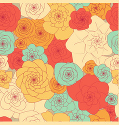 simple primitive seamless floral pattern of vector image