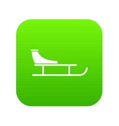 Sled icon digital green vector