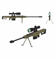 Sniper gun colored vector