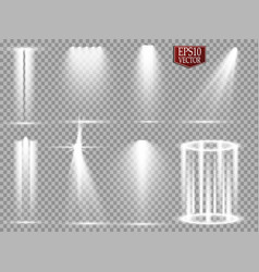 spotlights scene light effects glow vector image