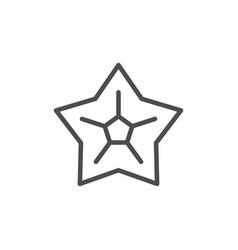 Star line icon vector