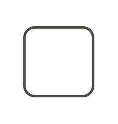 stop music icon line symbol vector image