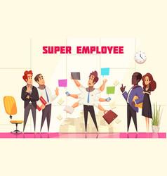 Super employee composition vector