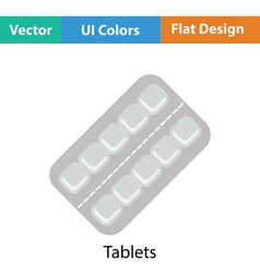 Tablets pack icon vector image
