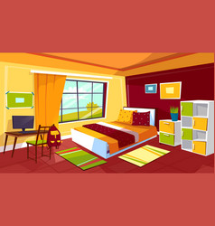 Teenager bedroom cartoon of vector