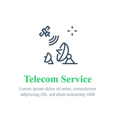 Telecommunication services satellite internet vector