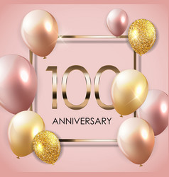 Template 100 years anniversary background vector