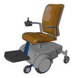 The electric wheelchair or color vector