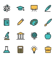 Trendy flat line icon pack for designers and vector image