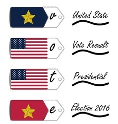 United State of America vote resault Presidential vector