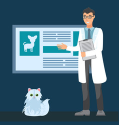 Veterinarian appointment flat vector