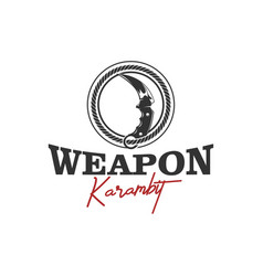 Weapon karambit traditional knife fight vector
