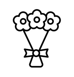 wedding bouquet icon on white background vector image