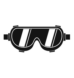 Welding worker glasses icon simple style vector