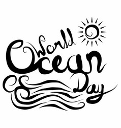 World ocean day 7 vector