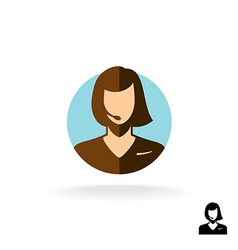 Call center operator sign vector image vector image