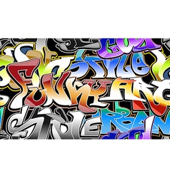 Graffiti urban background seamless vector image vector image