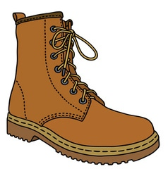 Light leather boot vector image