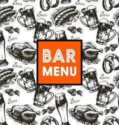 Menu for restaurant cafe bar Oktoberfest vintage vector image vector image