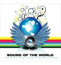 music world rainbow background vector image