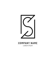 set s logo design vector image