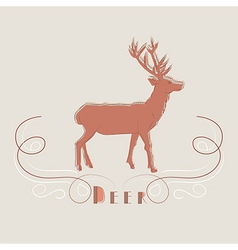 Decorative of deer vector image