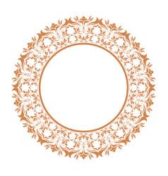 elegant round decorative frame flourish vector image vector image