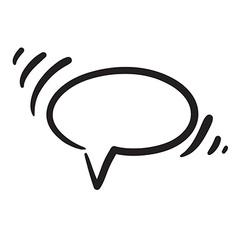 Hand drawn bubble dialog icon vector image vector image