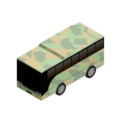 Isometric military bus icon vector image vector image