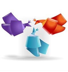 Origami birds symbols vector image vector image
