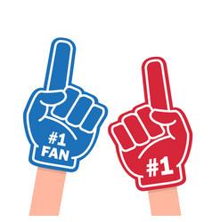fan foam finger vector image