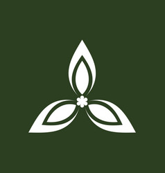 green triangle logo vector image