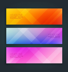beautiful minimal set of banners in three vector image vector image