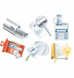 business icons set vector image vector image