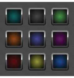chrome web button vector image vector image