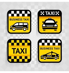 Taxi - set square stickers vector image vector image