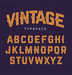 vintage typeface retro style font vector image vector image