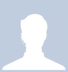 avatar head profile silhouette call center male vector image
