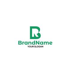 B and r logo design vector